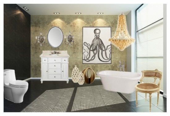{Bathroom Design Idea Board Created In Olioboard By AFP Interiors}
